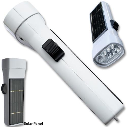 Solar Power  Flashlight White