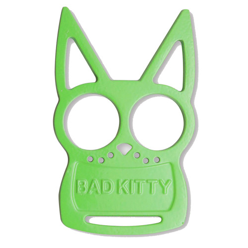 Green Bad Kitty Iron Fist Knuckleduster
