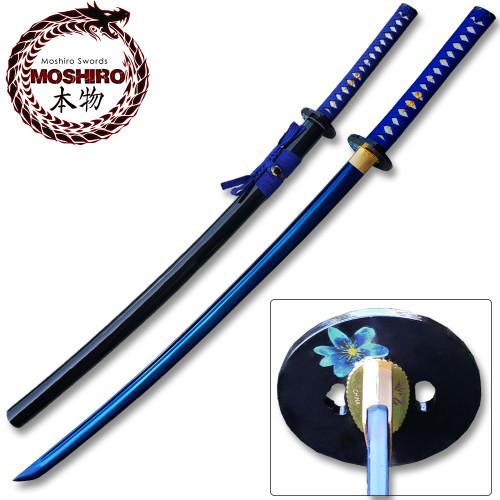 MOSHIRO 1045 High Carbon Steel Blue Blade  Katana