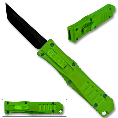 Legends Micro OTF Blade Knife Green Out The Front Tanto Blade