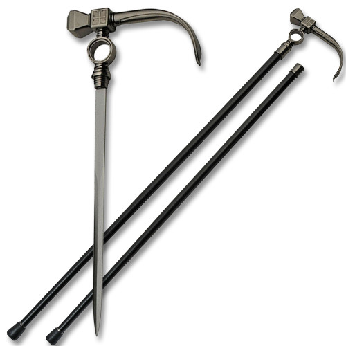 Hammer Style Walking Cane Sword