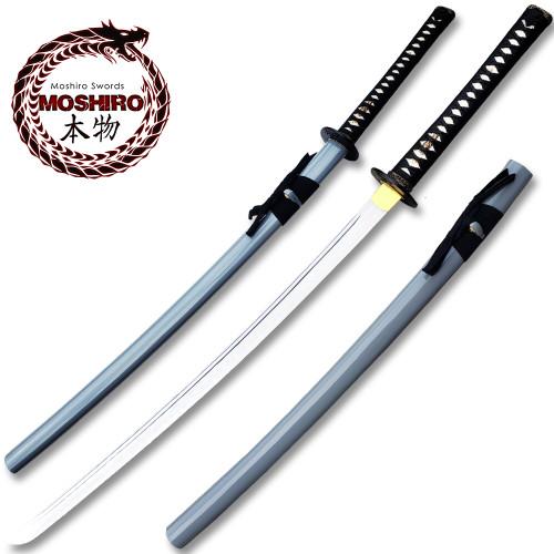 MOSHIRO 1095 High Carbon Steel Grey Glossy Scabbard