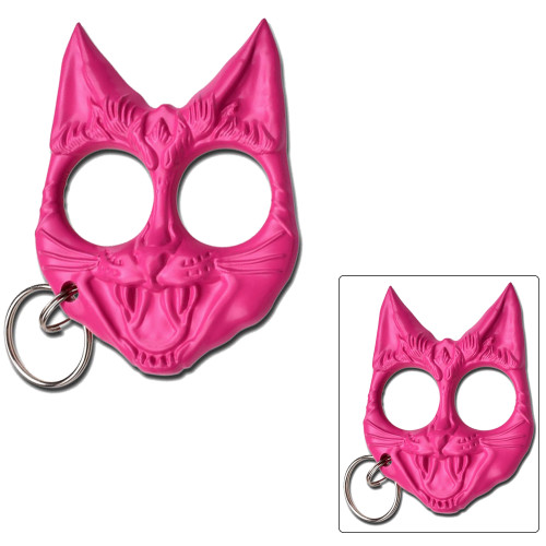 Pink Cat Knuckles key chain