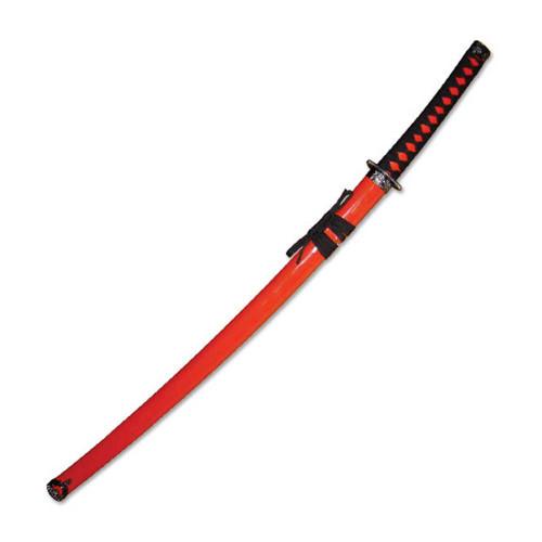 "40"" Overall Red Samurai Sword"