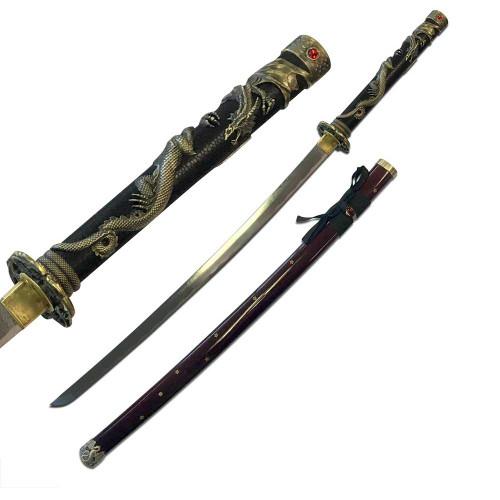 "TENRYU HAND FORGED SERPENT SAMURAI SWORD 42"" OVERALL"