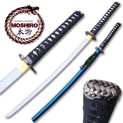 MOSHIRO 1045 High Carbon Steel Blue  Glossy Scabbard