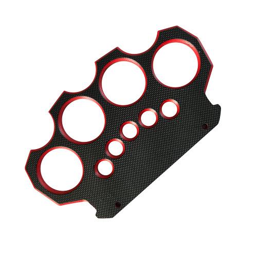 TACTICAL G10 KNUCKLE Black & Red Belt Buckle & Knuckle