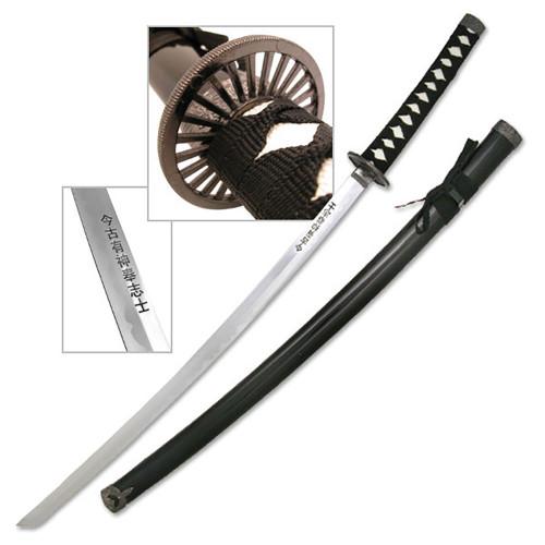 "BLACK SCABARD SAMURAI SWORD 39.5"" OVERALL"
