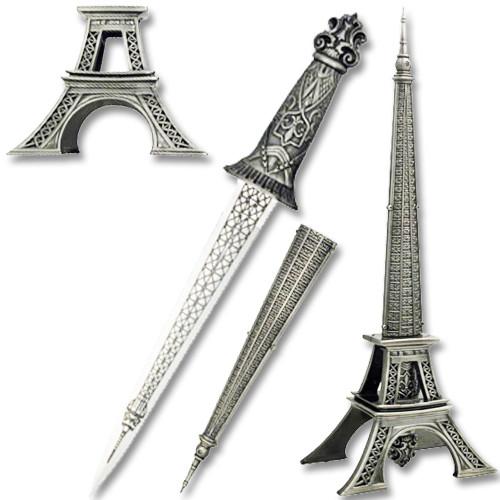 EIFFLE TOWER FANTASY FIXED BLADE KNIFE