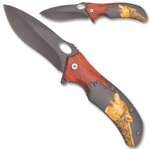 Mountian Wolf Spring Assisted Knife