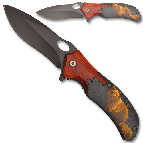 Mountain Bear Spring Assisted Knife
