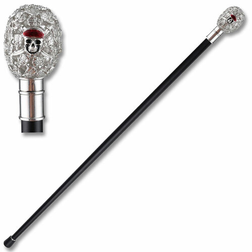 "37"" Faberege Egg Style Zinc Metal Walking Cane sword"