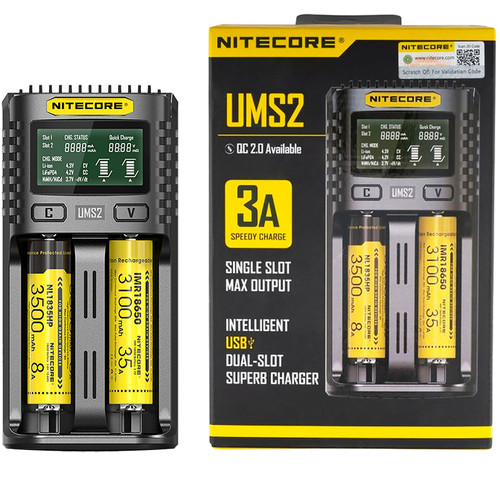 NITECORE UMS2 Dual-Slot Intelligent Charger