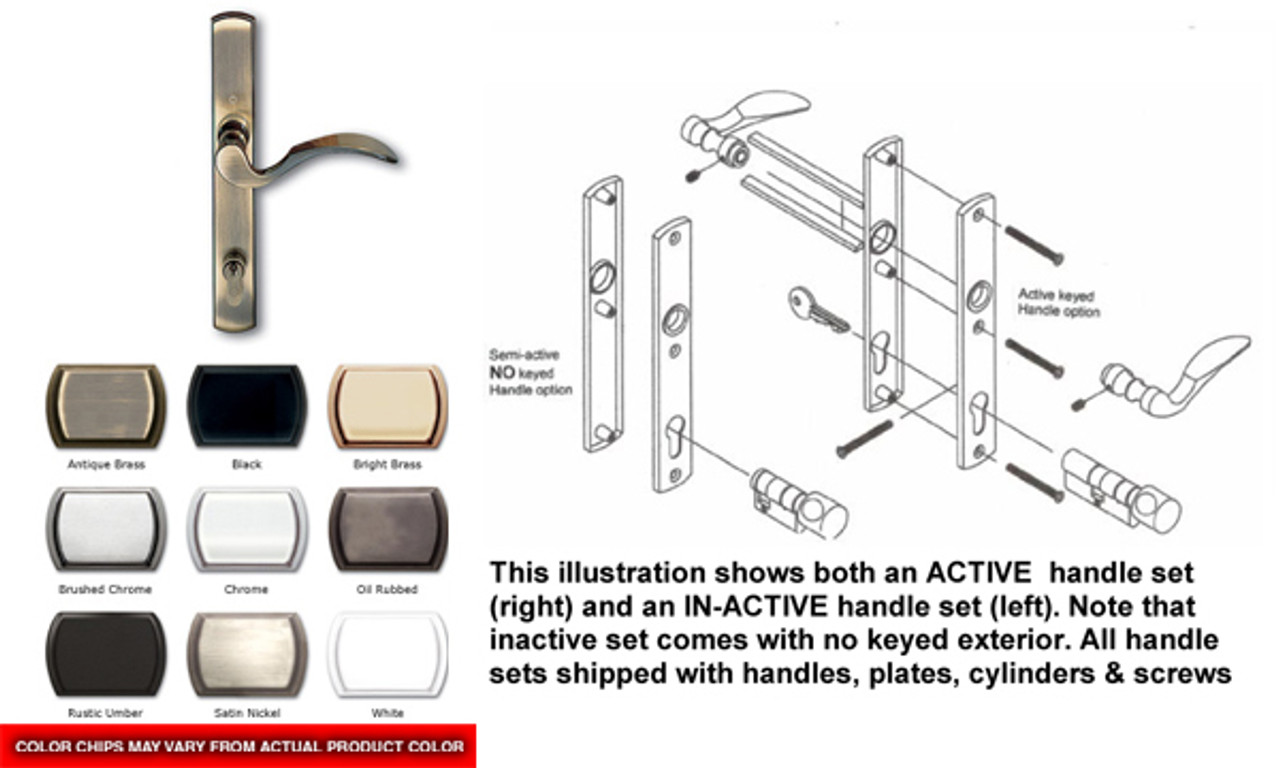3-point Active / Semi Active handle for French double swing door)