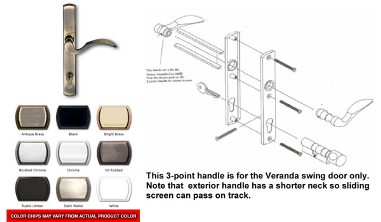 3-point Active handle for the Veranda single swing door