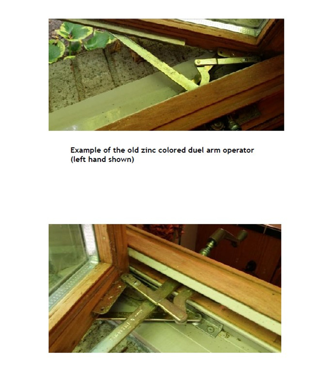 Operator Dual Arm Casement for units with visible glass width of 18'' or more  from 1988 to 2005