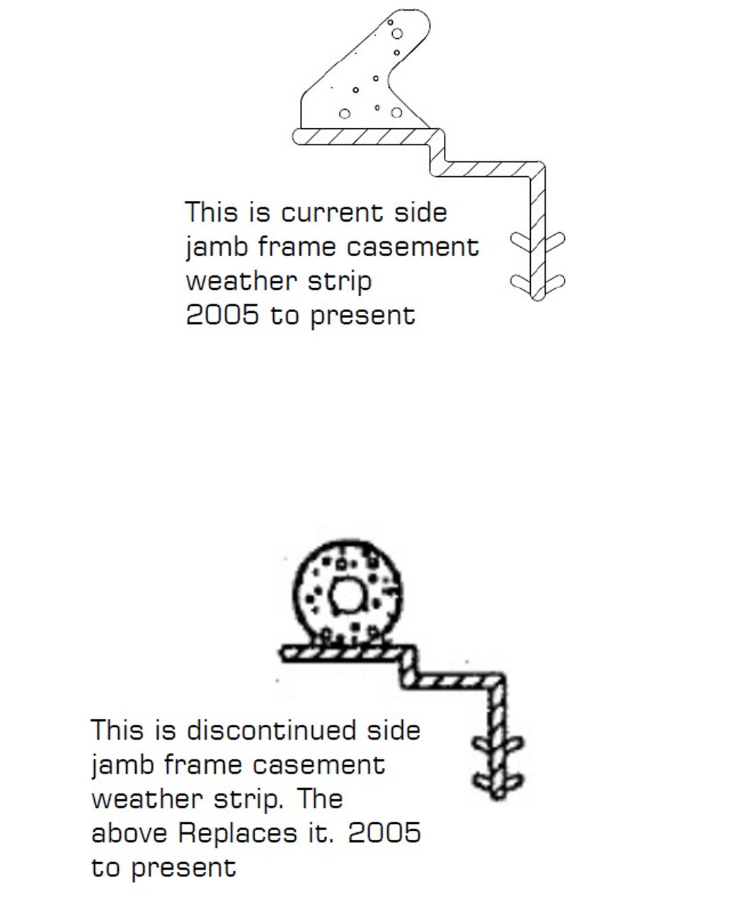 72'' pieces Casement Frame  Weather Strip June 2005  to Present-2784980