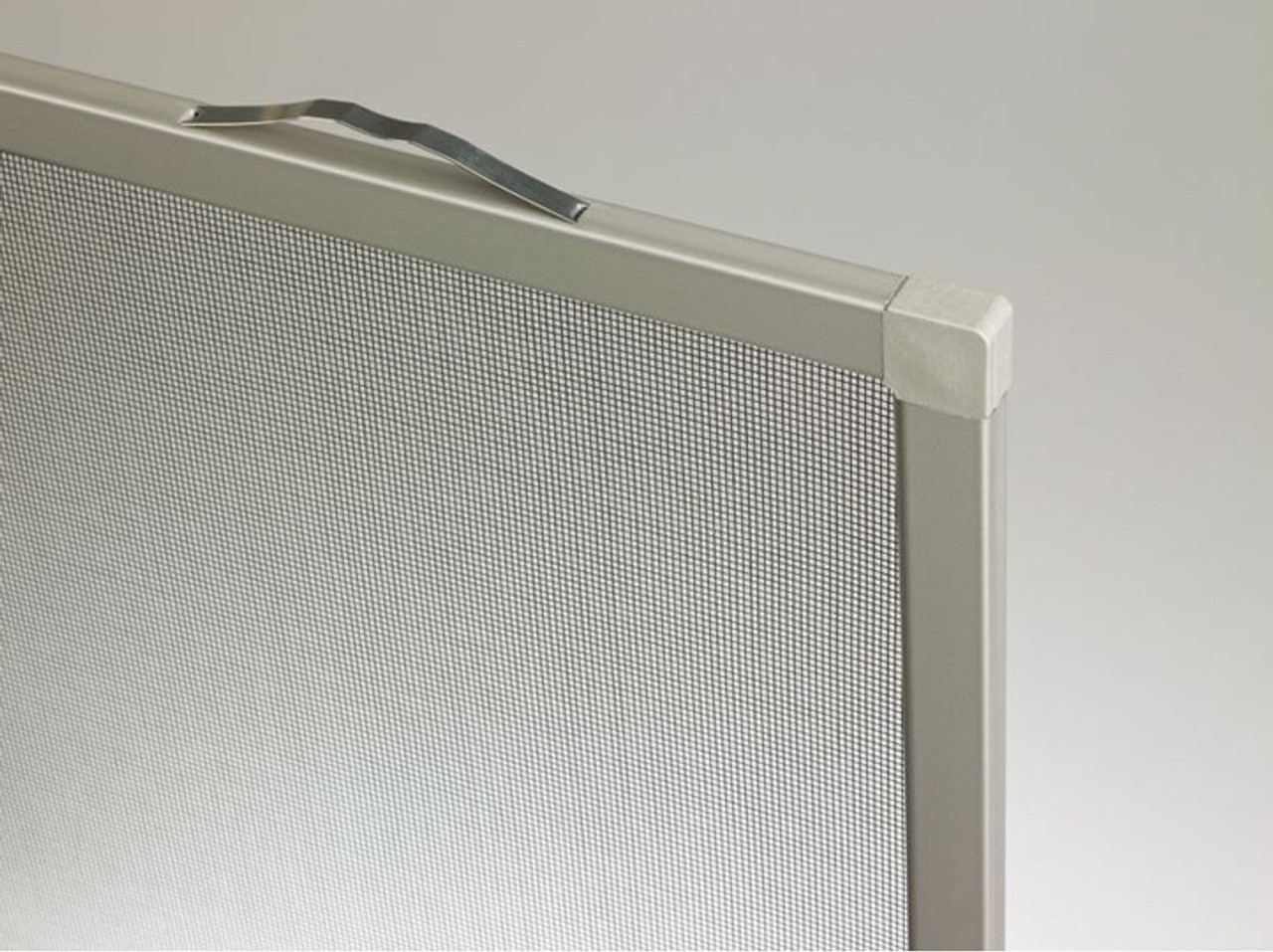 Top leaf spring style casement (clad window only) screen manufactured Nov 95 to present