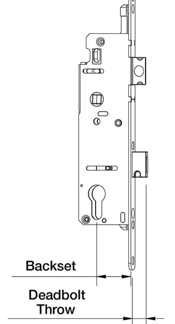 Hoppe universal single point gear with screws( works for both left or right swing doors)