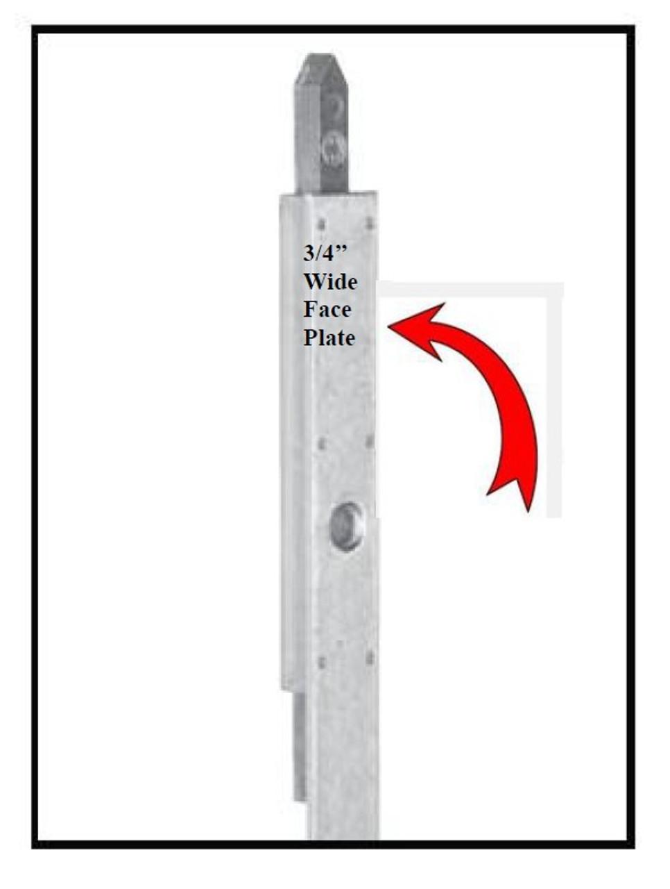 Hoppe: 20mm(3/4'' faceplate) Shootbolt gear for ACTIVE door