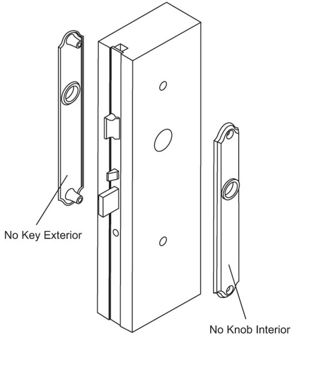 Verona Solid Brass M151/216N (dummy handle)