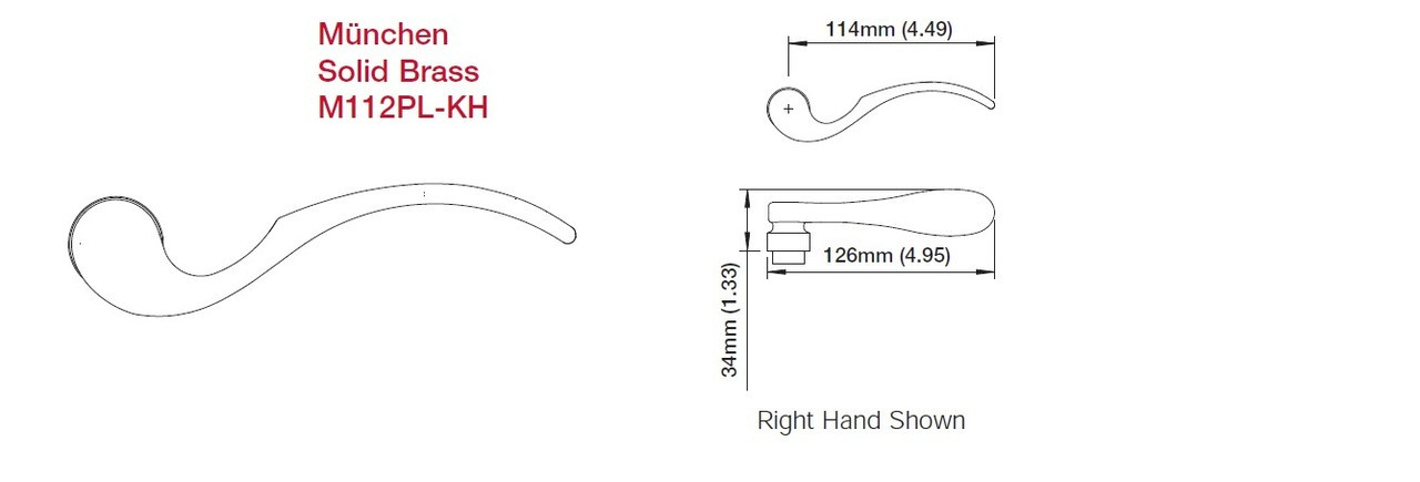 Hoppe Munchen (low profile) Lever only