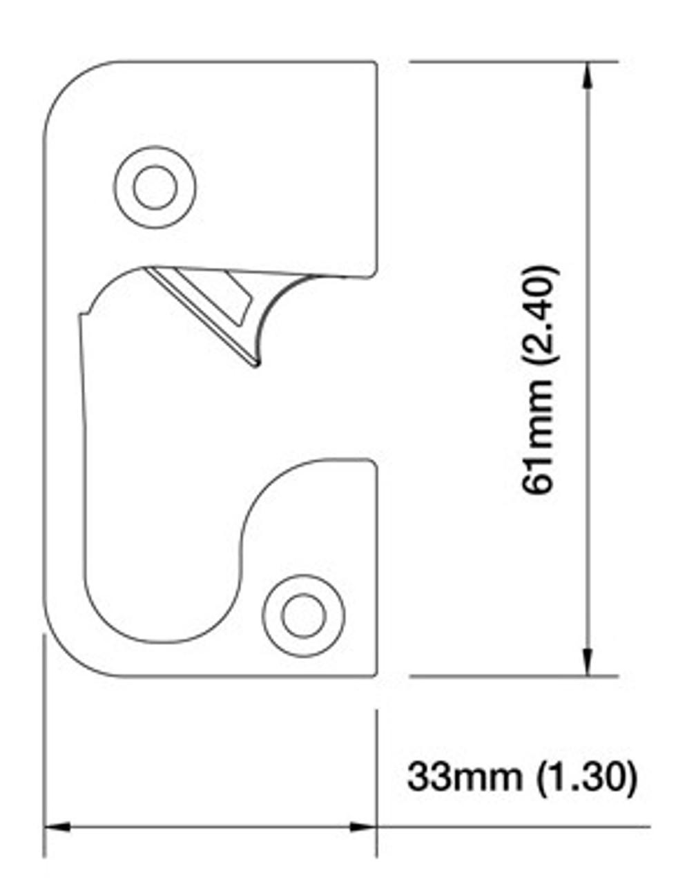 RA6133- RU1 Auto release strike and under plate Brass 8783867-8784775