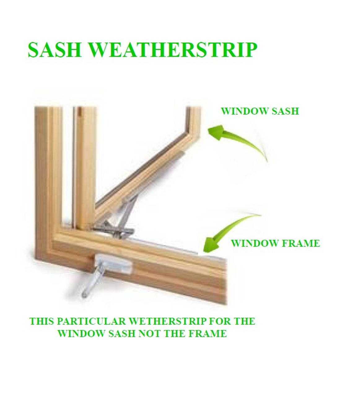 LINCOLN SASH W-STRIP KIT (EACH KIT COMES WITH QTY (4) 72'' LONG PIECES) OF 100830 SASH WEATHER STRIP FOR CLAD EXTERIOR WINDOWS  UNITS FROM 1991-1997