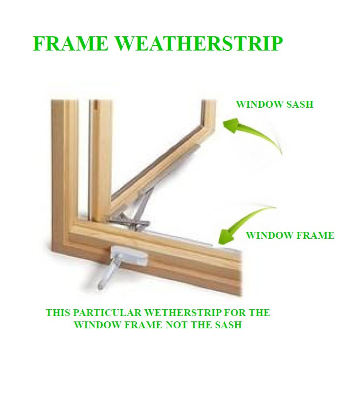 72'' pieces Casement  frame weather strip 2022589 1988 to 2006 (offered in bronze color only)