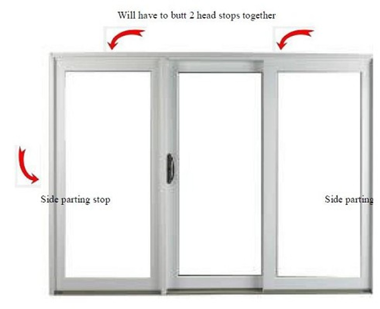 Semco Sliding Door Weather Strip Kit For 8ft To 16ft Wide And 8ft Tall Doors 1996 To Present Includes 4 93 58 2166544 Parting Stop Weather Strips