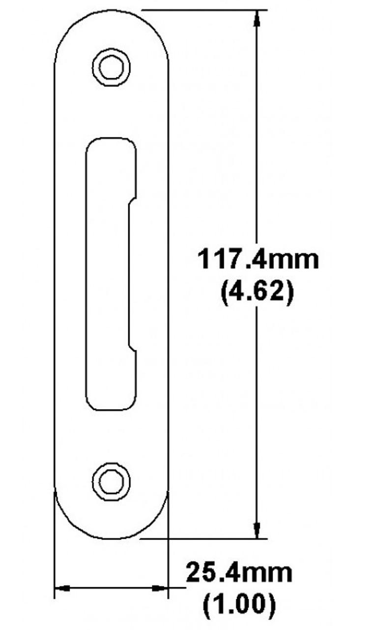 Hoppe Tongue strike flat with radius corner