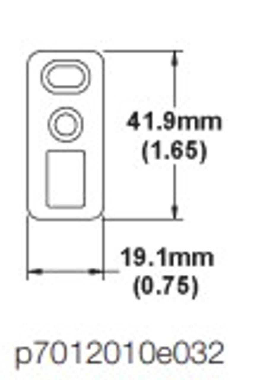 Hoppe Shoot bolt strike for HLS 9000 series single door stainless steel  2098911