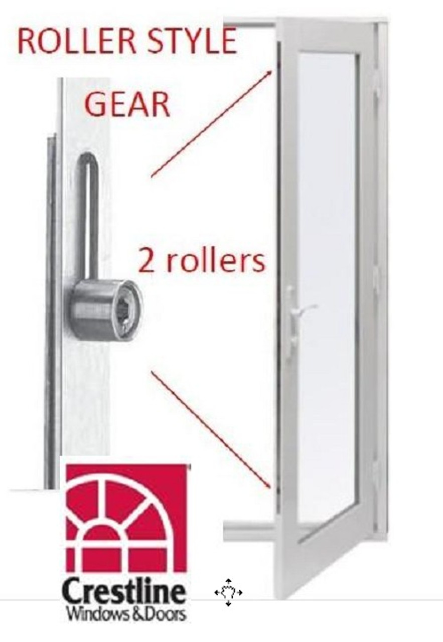 Hoppe: 2771546 replacement Roller gear for the 37'' handle height for crestline 113 door ONLY! 16mm ( or 5/8'') face plate