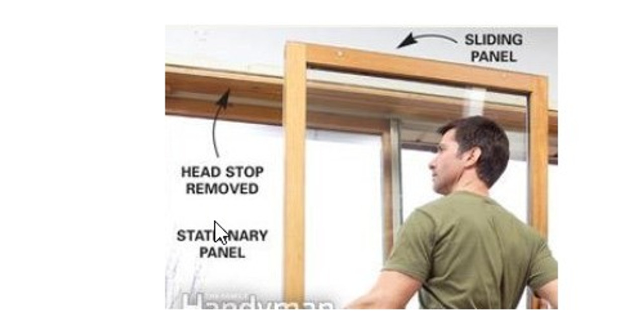 Park-Vue Narrow line sliding door PANEL ONLY 6/6 x 6/11 RO ,(visible glass  33'' w x 75'' h) LOW-E 270 GLASS