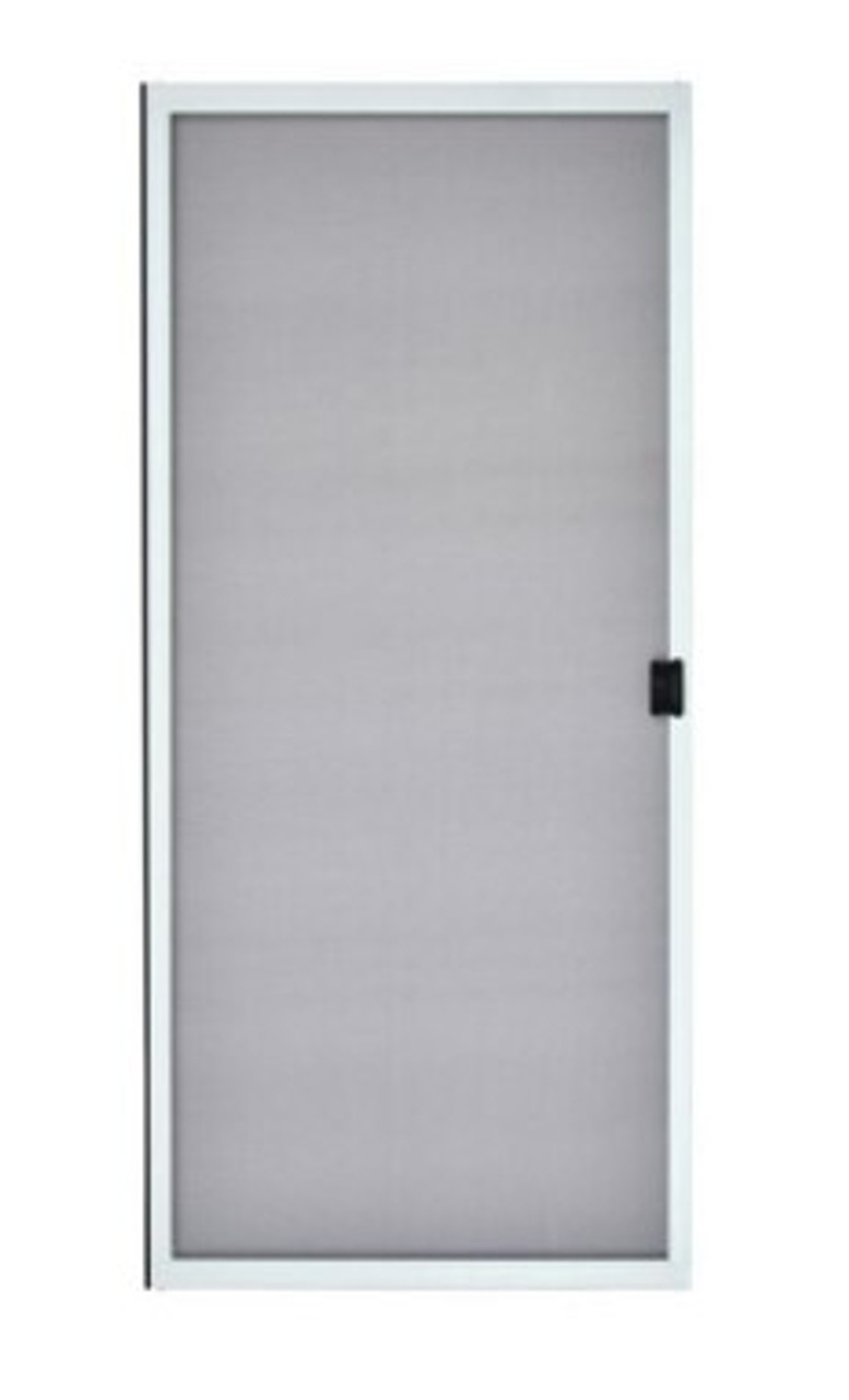 Semco white screen for R6068 sliding door from 1999 (visible glass 33 wide x 74 3/4 high) Special order Grimm, NOTE: NO SHIPPING INCLUDED. Customer pick up