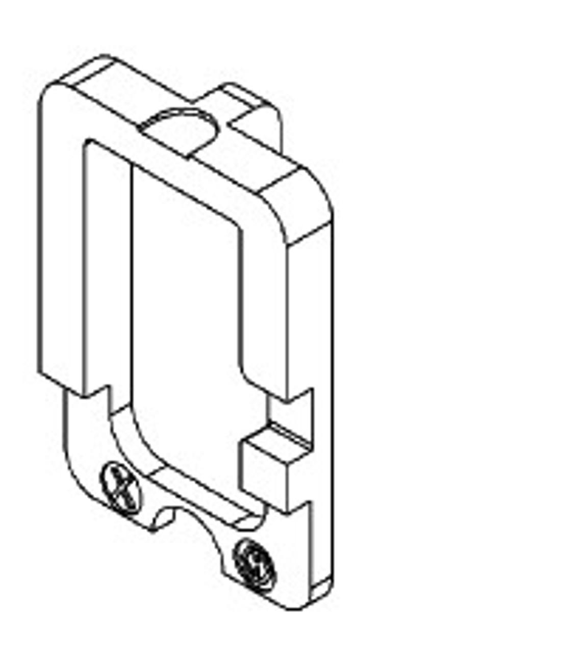 Pack of (2) Hoppe HFW Z SCHIEBER DREHWANDLER  for 7 series handle set 2005091