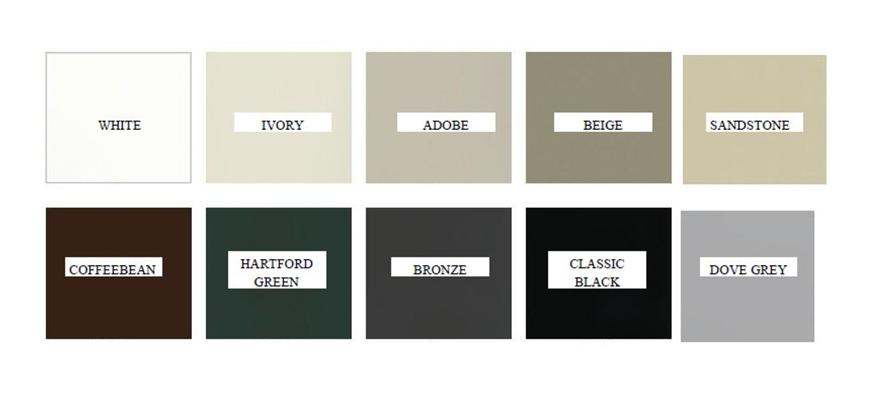 Exterior clad color choices