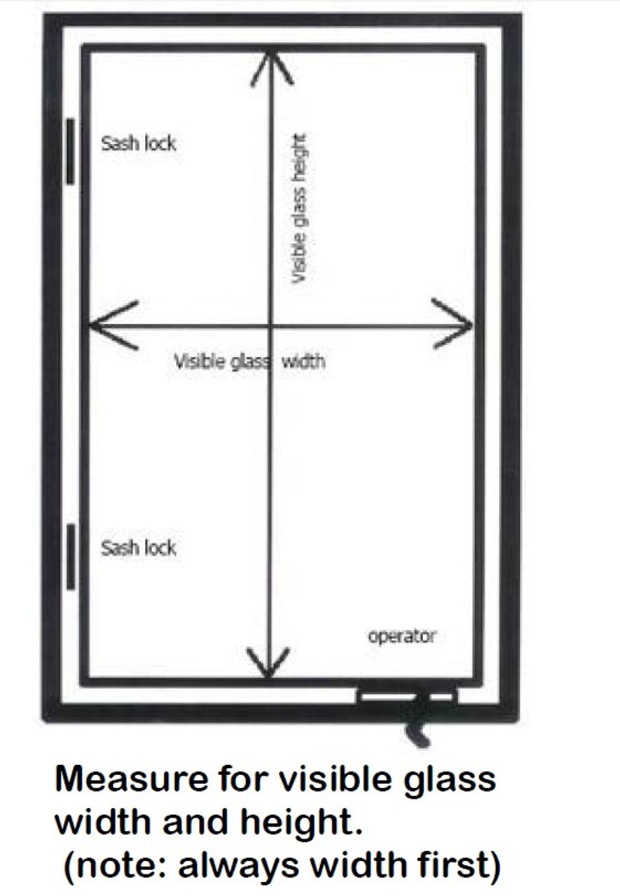 SEMCO REPLACEMENT: Fits 1980 to 2005: TDM casement replacement sash to fit Semco  windows with exposed sash locks