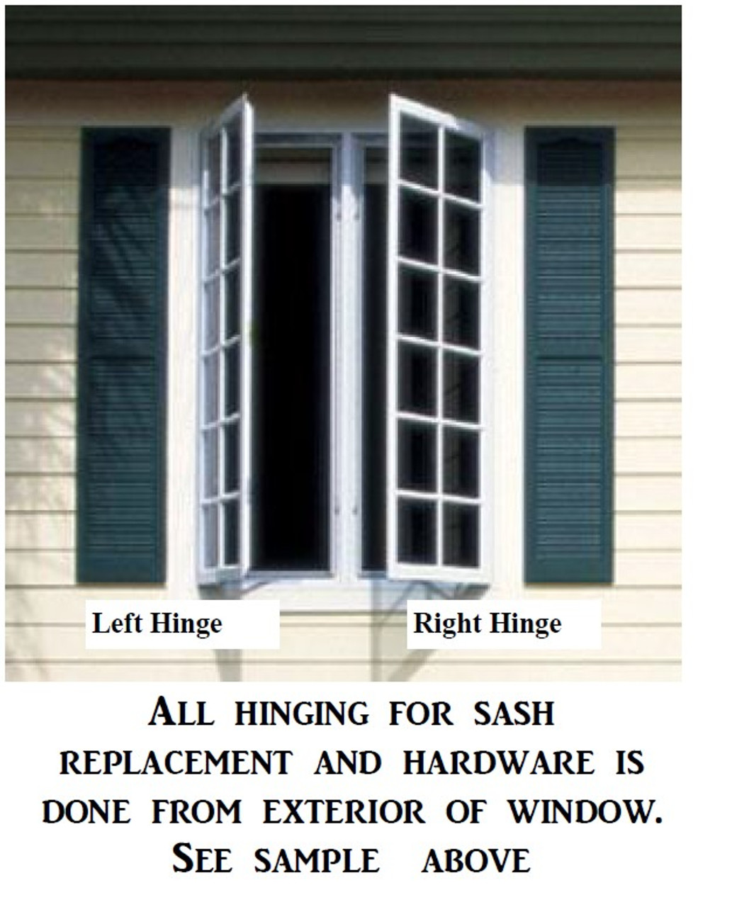 MARVIN casemaster replacement sash:  with exposed sash locks