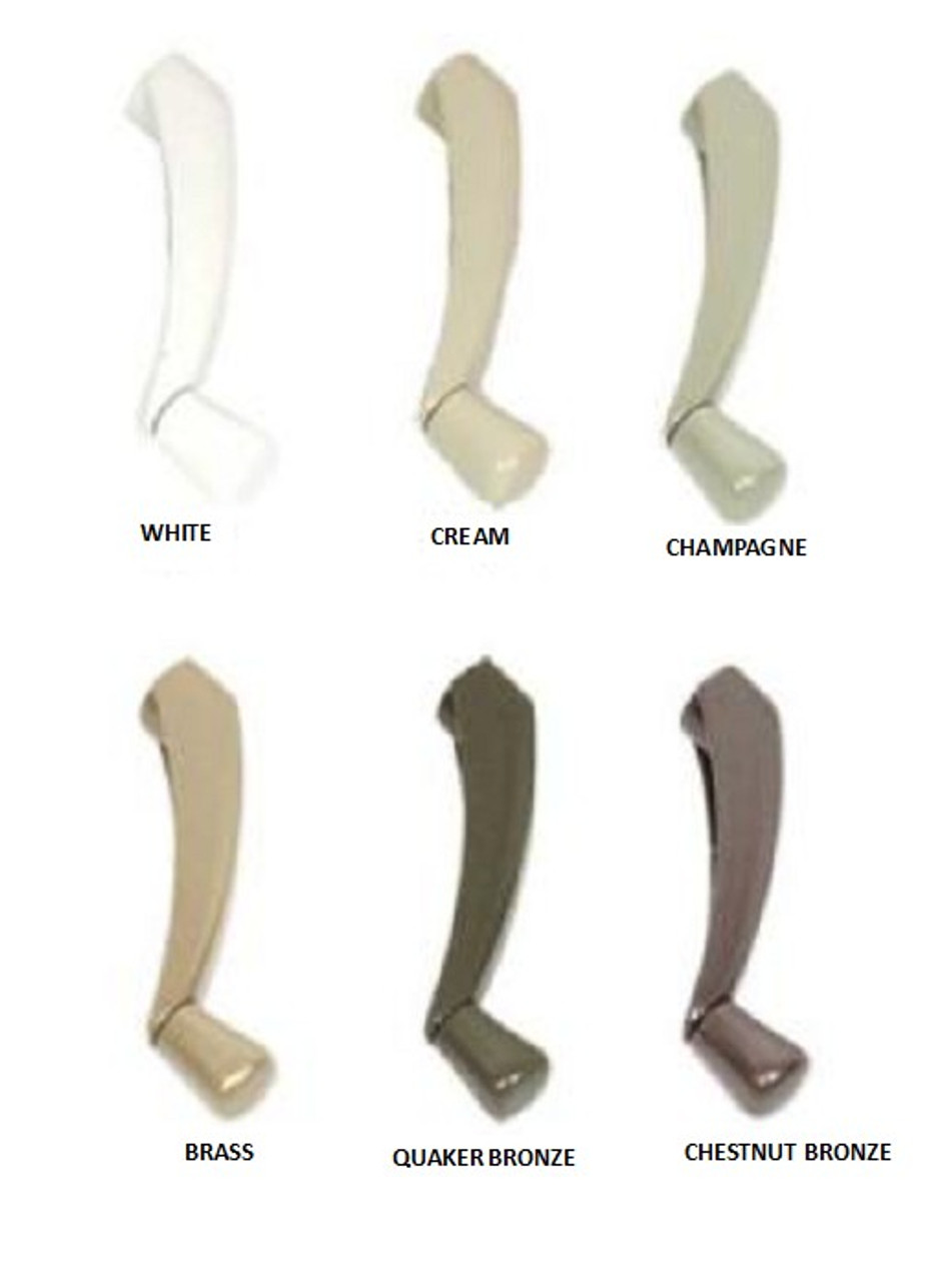 Shelter (CONTOUR FOLDING) casement crank handle used on casement and awnings