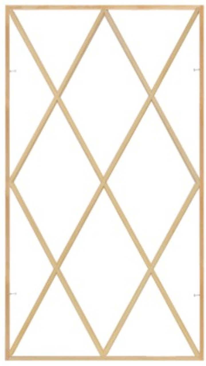 Lincoln Casement Diamond pattern wood grille (offered in full surround only)  (for windows 1986 to September 2005)