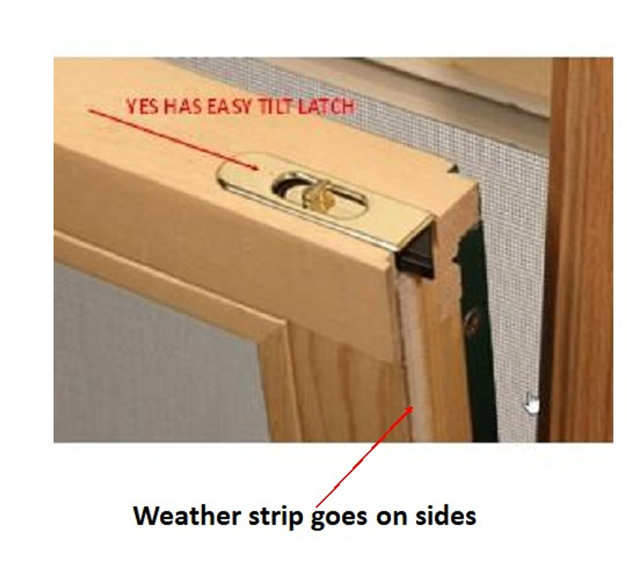 Semco DCS easy tilt  Double hung replacement pile weather strip for side of sash for units manufactured from 1996 to December  31st 2019 ( includes 4 pieces 36'' each)
