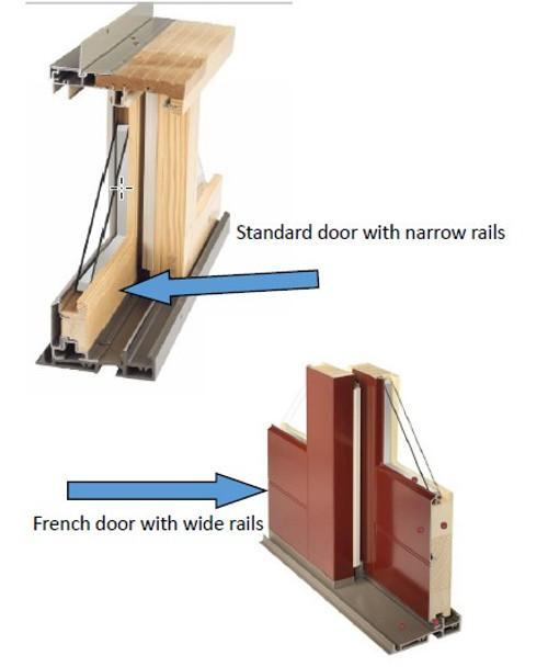 46'' Sliding door stationary panel lower sill block insert