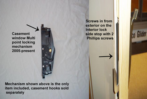 Multi point casement handle assembly 2005 to present 2487123