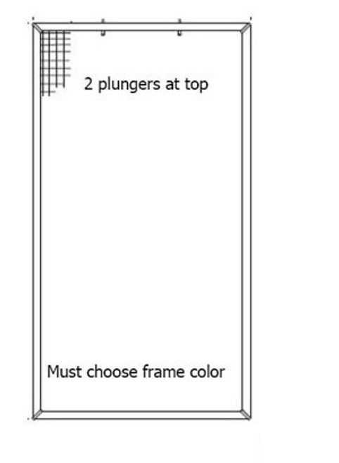 Plunger Syle Casement Screen