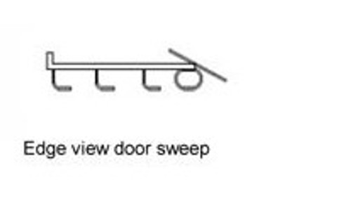 """48"""" brown door bottom weather strip 2148771"""