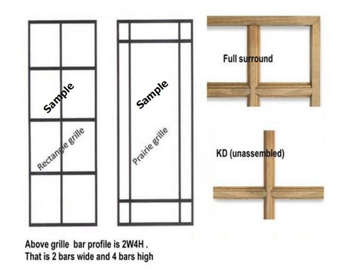 LINCOLN DOUBLE HUNG (GEN-4) TRADITIONAL STYLE WOOD GRILLE  FOR UNITS MANUFACTURED FROM  APRIL OF 2004 TO PRESENT