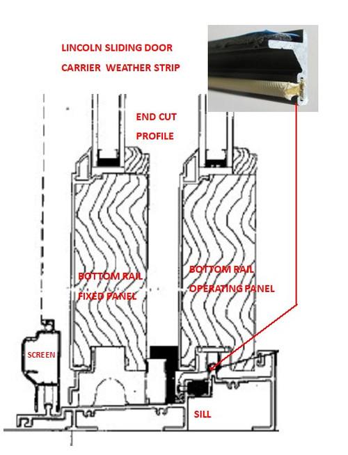 SLIDING DOOR W/STRIP CARRIER 125710 & CARRIER W/STRIP 125715 2011 to present