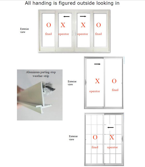 SLIDING DOOR ALUMINUM  PARTING STOP W/STRIP KIT FOR DOORS MANUFACTURED MAY 2011-PRESENT