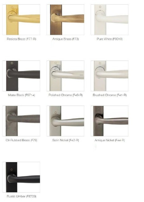 hoppe sliding door 2 point ACTIVE handle with interior thumb turn and exterior 90 degree KEYED cylinder: style  m151/2165N plate